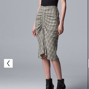 Simply Vera Vera Wang - Rouched plaid Skirt